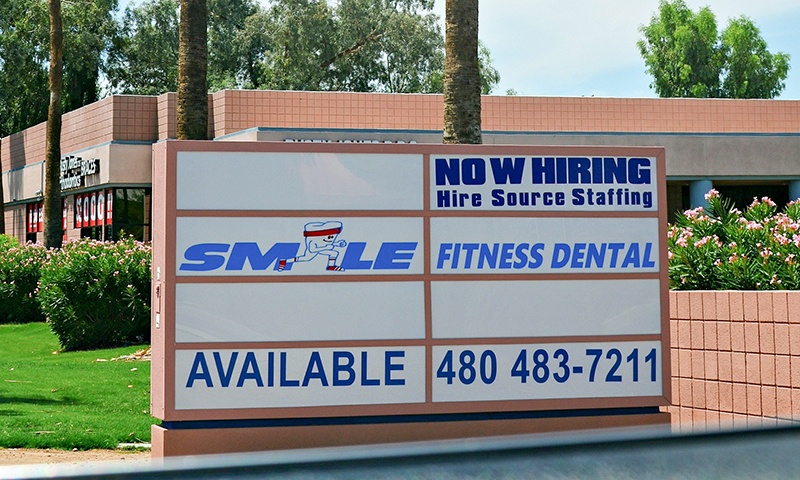 The Smile Fitness Dental Center street sign