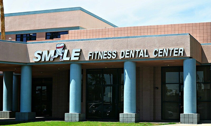 Front entry view of Smile Fitness Dental Center