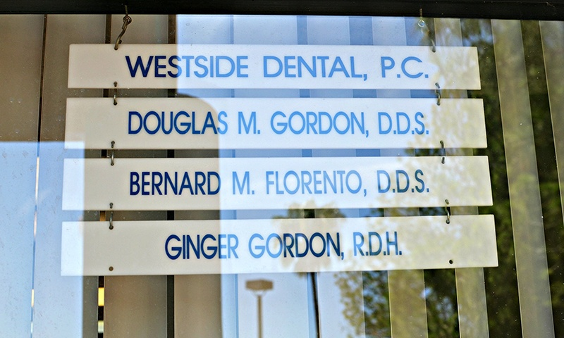 List of our dentist's names in window